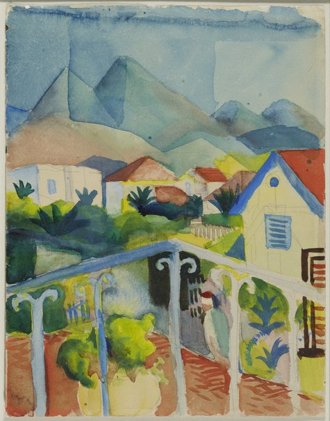 August Macke, St. Germain bei Tunis, 1914