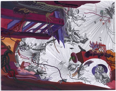 Franz Ackermann, Tourist f) untitled (mental map: Tor der Großen), 2005