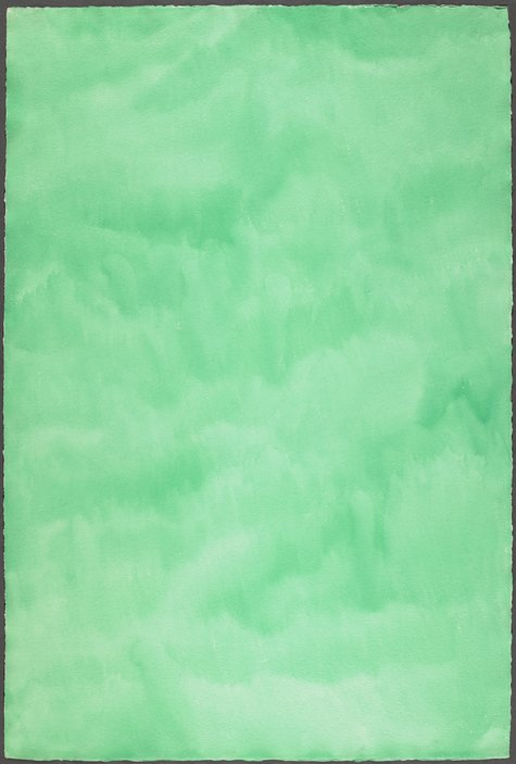 Marcia Hafif, Emerald Green, Sept. 18, 1974