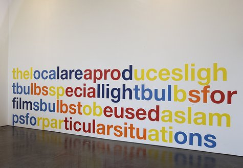 Liam Gillick, The Local Area Produces Lightbulbs, 2003