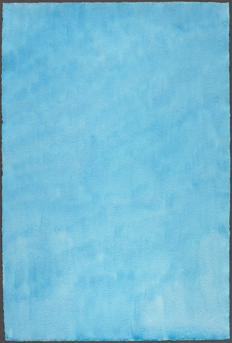 Marcia Hafif, Manganese Blue, October 23, 1974