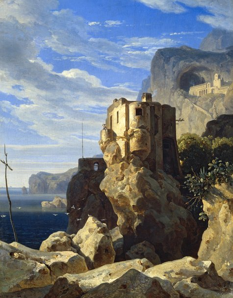 Ernst Fries, San Francesco bei Amalfi, 1828