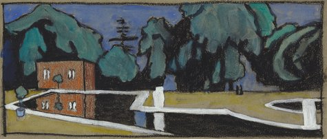 Gabriele Münter, Vorarbeit zu 'Parc Saint Cloud', 1907
