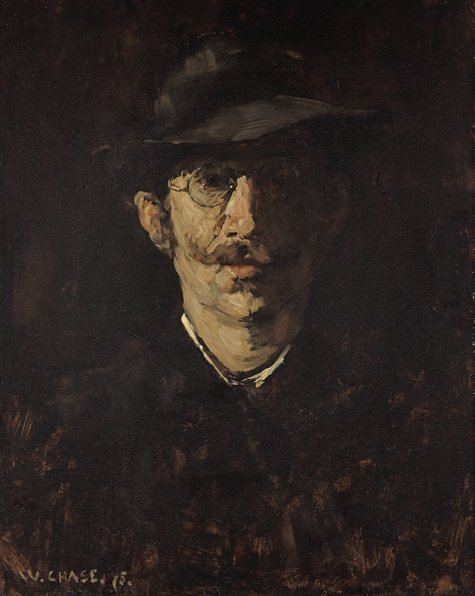 William Merritt Chase, Bildnis Hugo von Habermann, 1875