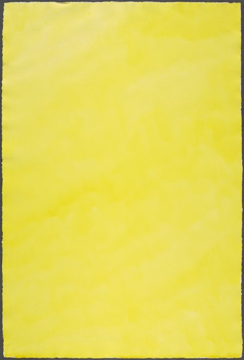 Marcia Hafif, Chrome Lemon, August 21, 1974