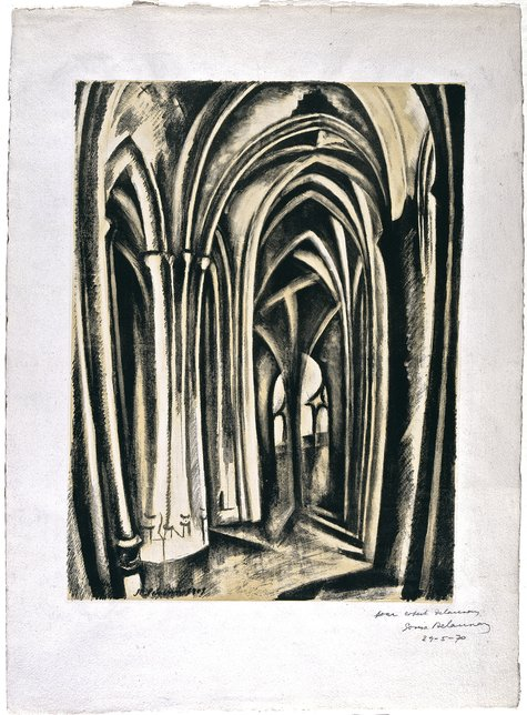 Robert Delaunay, Saint Séverin, 1909/1970