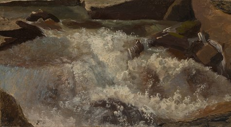 Thomas Fearnley, Wildwasser. Naturstudie, 1831