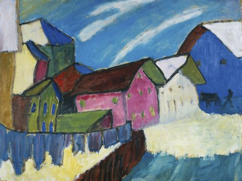 Gabriele Münter, Dorfstraße im Winter, 1911